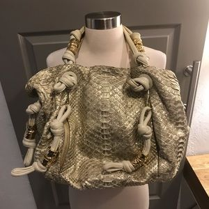 Michael Kors Collection Designer Snakeskin Handbag